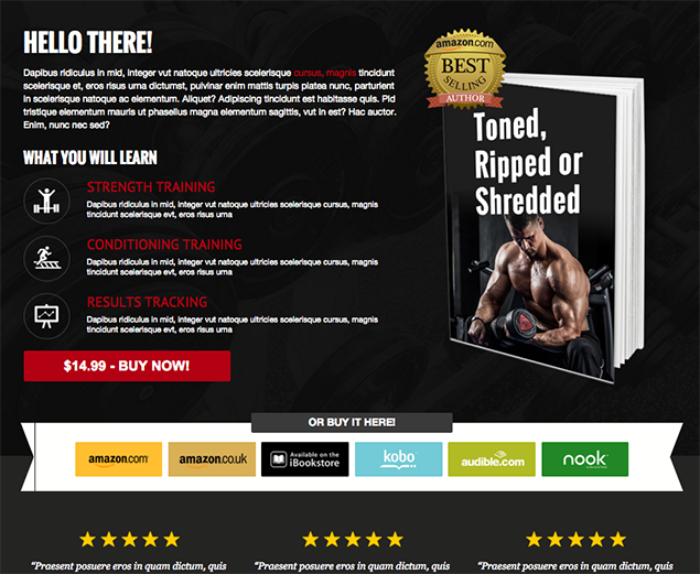LeadPages Fit Book template