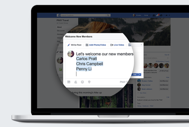 Facebook Groups - Welcome posts