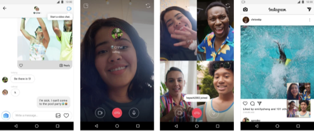 Video chat in Instagram Direct