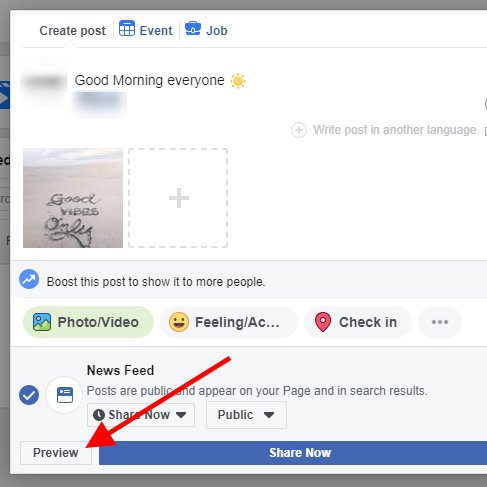 Facebook post preview - 2019
